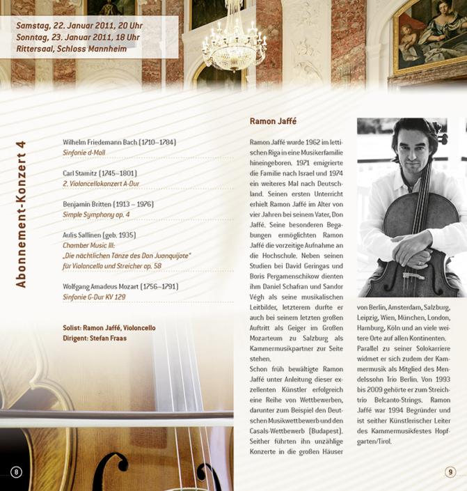 Design und Druck des Programmheftes des KKO in Mannheim