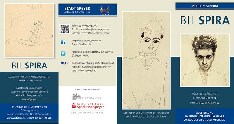 Erstellung des Flyers für die Ausstellung Bill Spira im Stadtarchiv in Speyer