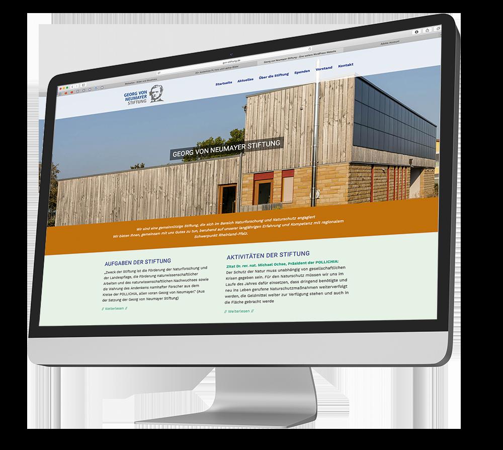 Webseiten Relaunch für die Georg von Neumayer Stiftung aus Neustadt an der Weinstraße