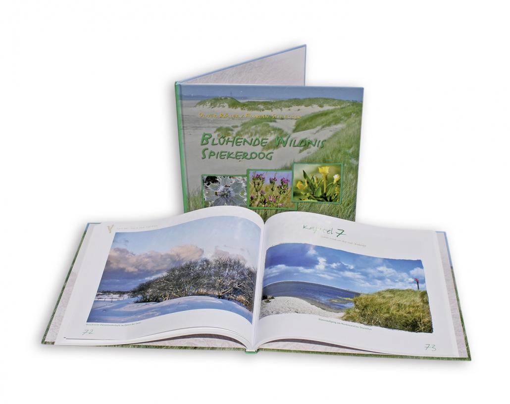 Buchdruck und Gestaltung für Naturbeobachtungen auf der Insel Spiekeroog