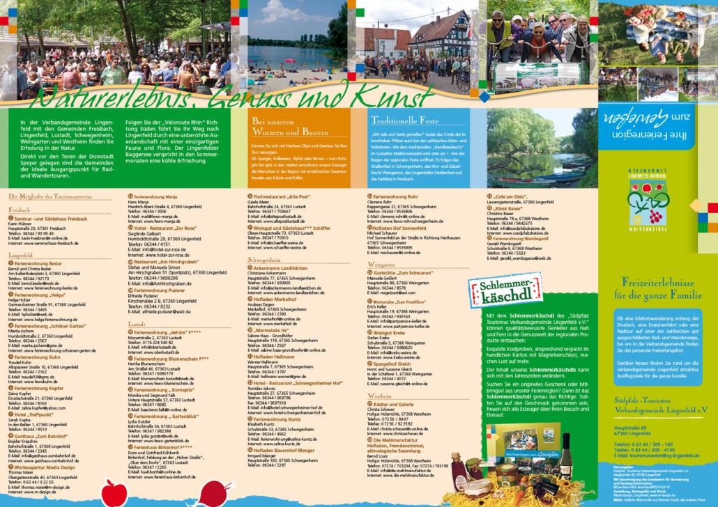 Grafik-Design, Kartografie, Druck für den Tourismusverein aus Lingenfeld