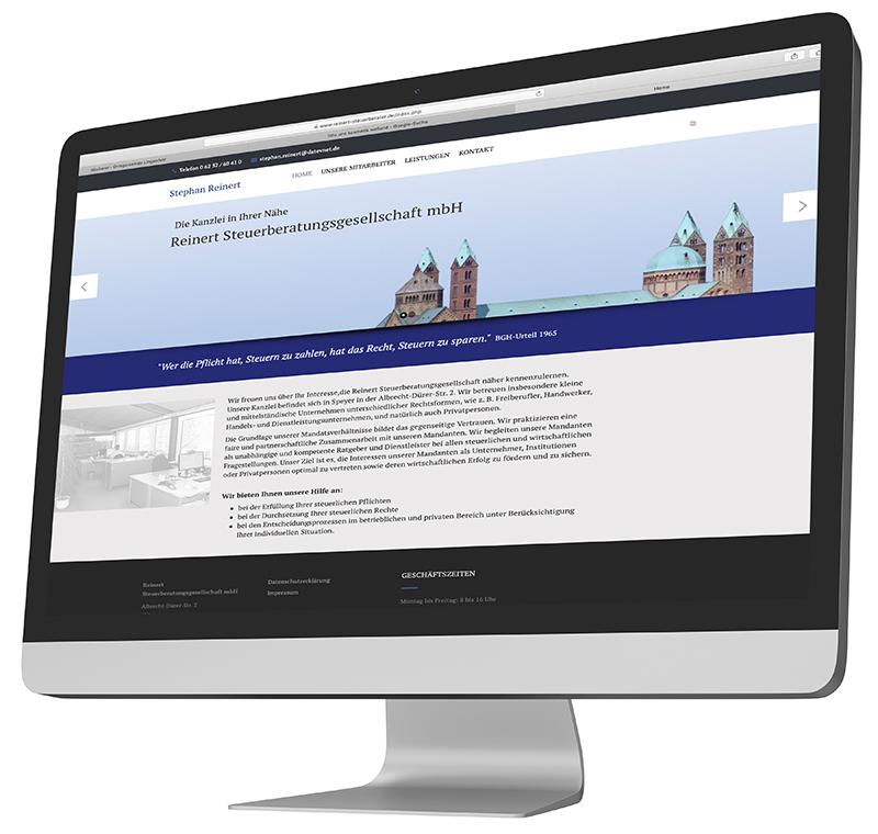 Website für Steuerberater Reinhard in Speyer