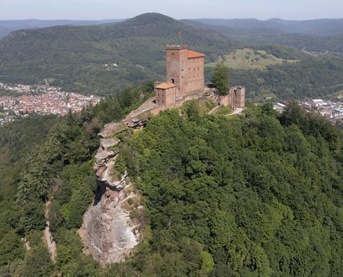Drohnenfotografie Burg Trifels in Annweiler